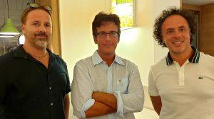 da sx Dr. Antonio Sorrento, Prof. Diego Fusaro, Avv. Matteo Sances
